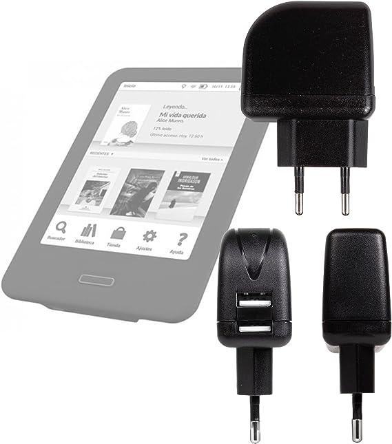 DURAGADGET Cargador con Enchufe Europeo para Libro electronico ...