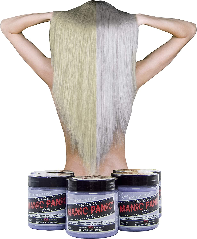 Manic Panic - Silver Stiletto Classic Creme Vegan Cruelty Free Semi-Permanent Hair Colour 118ml