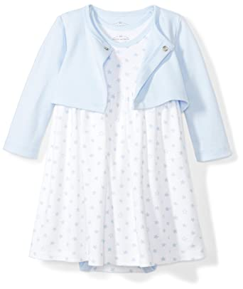 1b28e98e85 Amazon.com  Moon and Back Baby Girls  Organic Dress and Cardigan Set ...