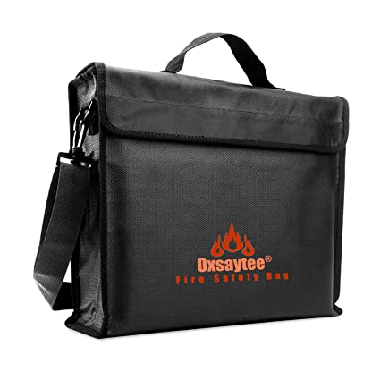 b962e8c2e677 Fireproof Document Bags, Large 15 * 11 * 3