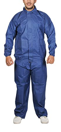 Adhunik Unisex Rubber Rain Coat Blue