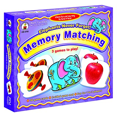 Carson-Dellosa Publishing Elephants Never Forget: Memory Matching: Office Products