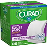 Curad Non-Woven Pro-Gauze, 3 Inches X 3 Inches 25 pads (Pack of 2)