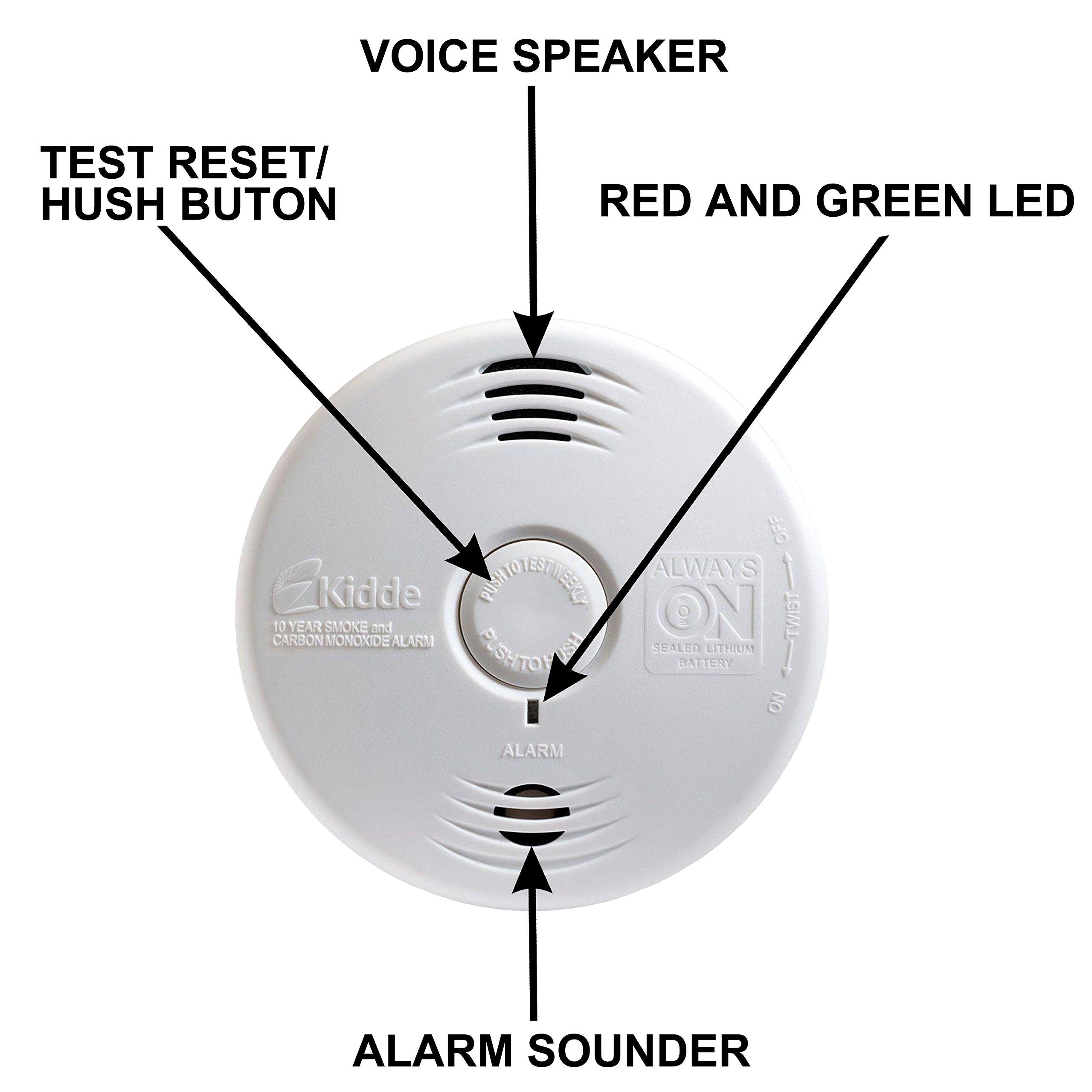 Worry-Free Hardwired Smoke & Carbon Monoxide Alarm with Lithium Battery Backup I12010SCO by Kidde (Image #5)