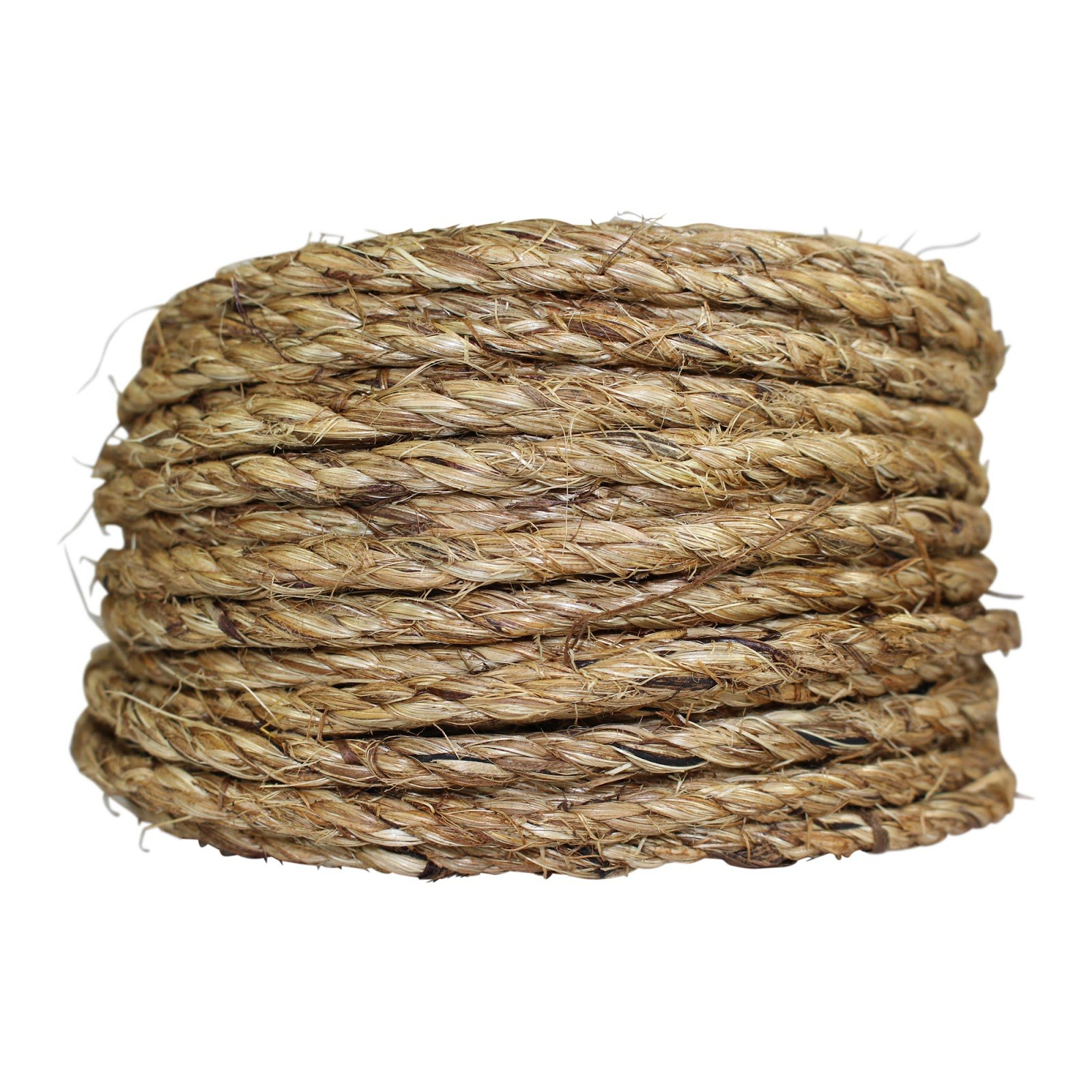 SGT KNOTS Twisted Manila Rope Hemp Rope (1/4 in x 100 ft) Tan Brown Natural Rope - Thick Heavy Duty Rustic Outdoor Cordage for Craft, Dock, Decorative Landscaping, Climbing, Tree Hanging Swing