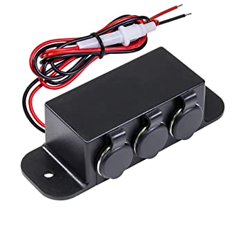 81pZpI3cK3L._SY355_ amazon com automotive dc power outlet extension [heavy duty] [12v