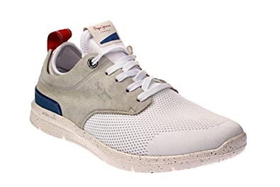 0512aeb2a6f Chaussures Pour Homme Pepe Jeans PMS30410 Jayden 800 White  Amazon ...