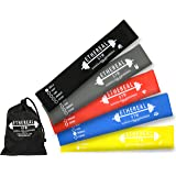New! Gorilla Mini Loop Exercise Bands - Set of 5 Premium Strengths - Tone & Shape Legs Glutes & Thighs - Perfect For Home Fitness & Workouts - Improve Mobility & Stretching