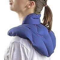 YS-Bio Produkt Nackenkissen mit Stehkragen. Wärmekissen für den Nacken und Rückenbereich. Größe: 43x40 Soforthilfe bei Nacken-und Rückenschmerzen. Großes Nackenkissen-Nackenhörnchen. Natur-Kollektion