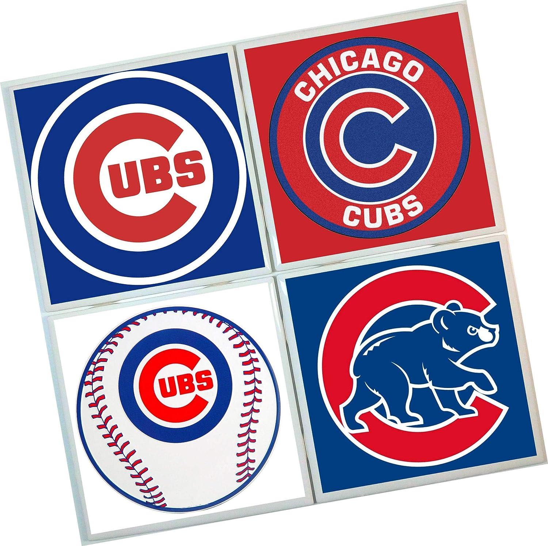 Chicago Cubs Coasters baseball Set of 4 Tile Coasters