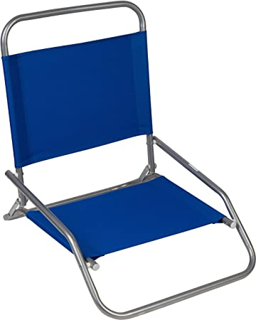 amazon 23 5 スチールチューブsand chair beach chair by trademark