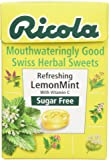 Ricola Lemon Mint Sugar Free Swiss Herb Drops 45 g (Pack of 10)