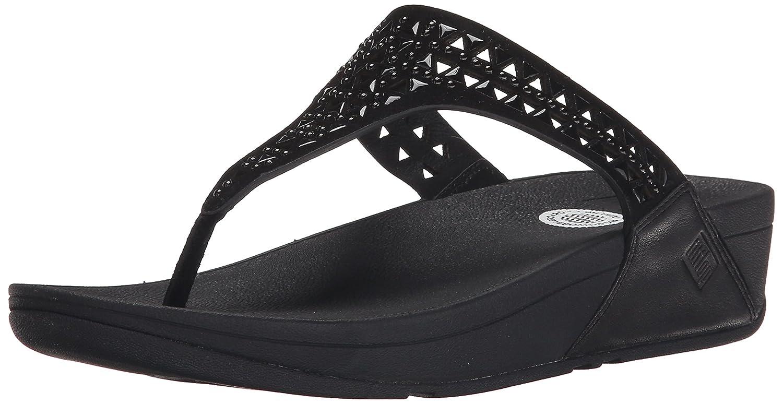 FitFlop Damen Carmel Toe-Post Sandalen  40 EU|Schwarz (All Black)