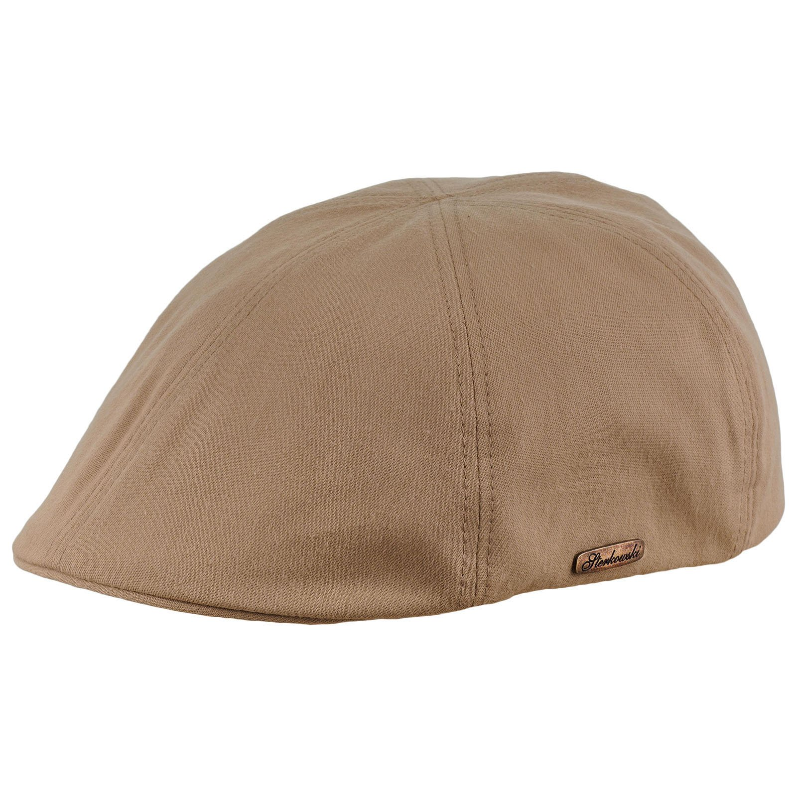 Sterkowski Light Breathable Emerizing Cotton 6 Panel Duckbill Flat Cap, Beige - 58cm = L = US 7 1/4 by Sterkowski (Image #2)