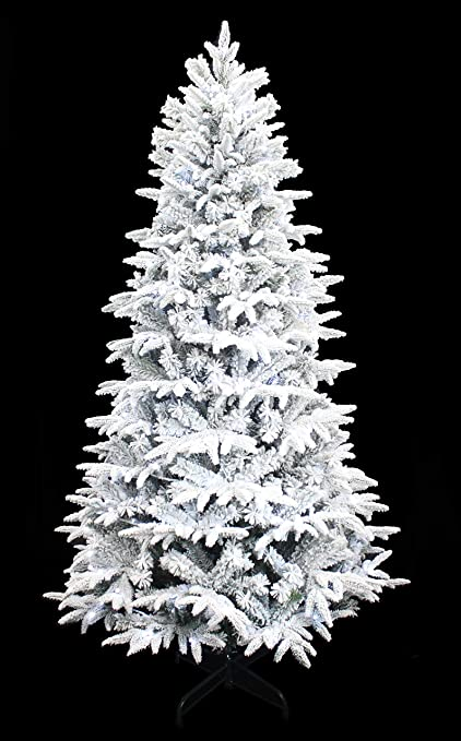 Holiday Stuff Wonderland Spirit Spruce Flocked Christmas Tree Pre Lit With Cool White Led Lights 6ft