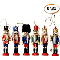 THE TWIDDLERS 6pcs Muñeco Tradicional Navideño Cascanueces