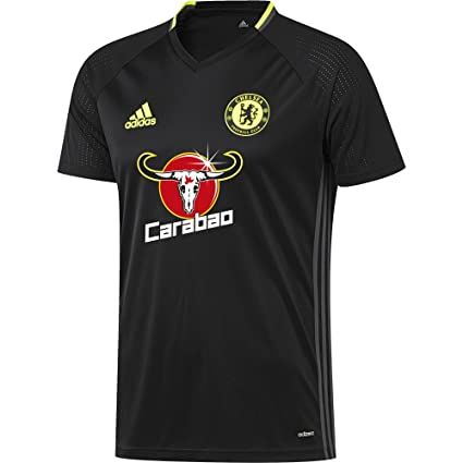 new product b72d3 bf274 Amazon.com : adidas 2016-2017 Chelsea Training Jersey (Black ...