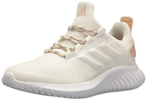 13aee6ddd4385 Adidas Women s Alphabounce Cr White Low Top Suede Running Shoe - 8.5 ...