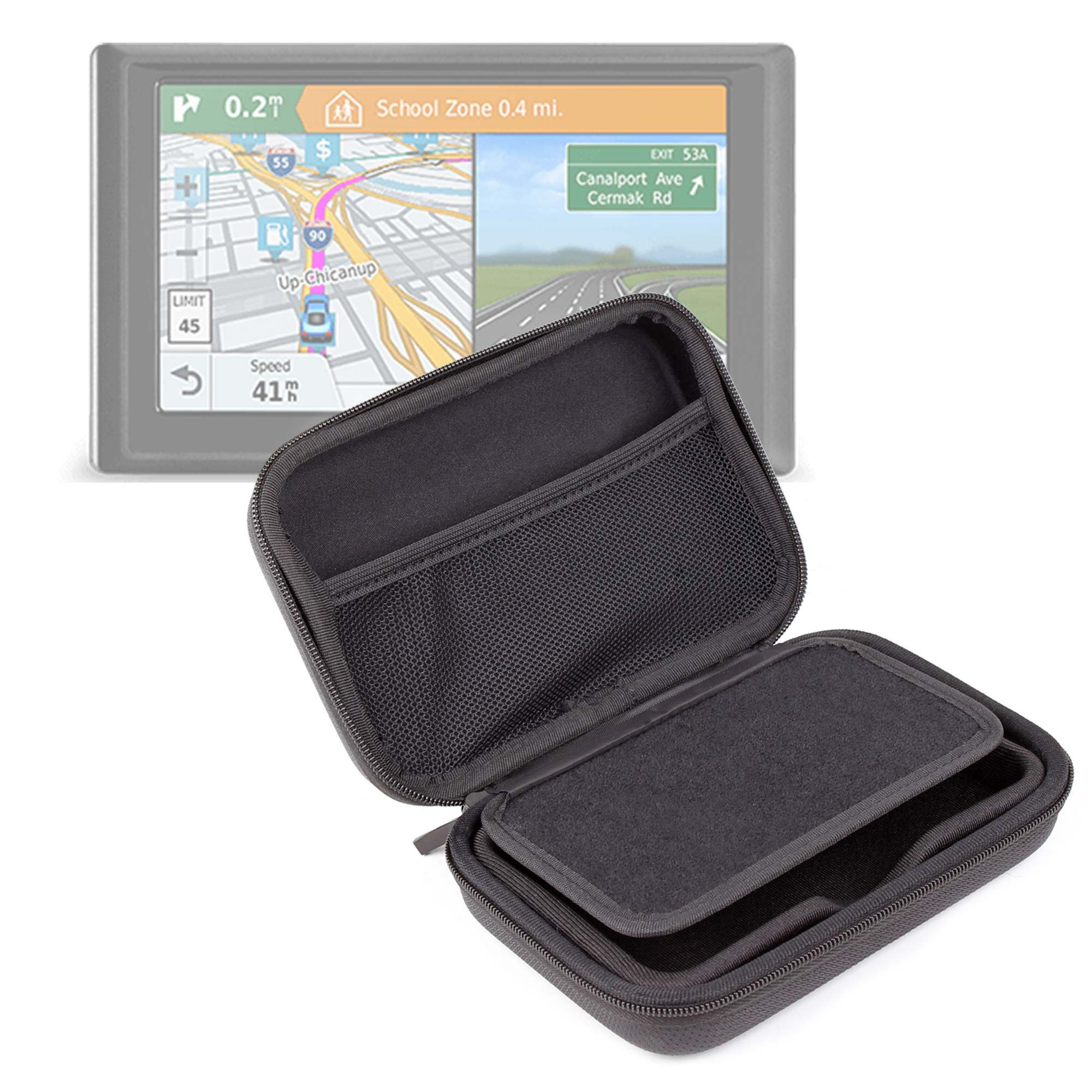 DURAGADGET Exclusive 5-inch Hard Shell EVA Case in Matte Black for the NEW Garmin Drive 50 / 50LM / 50LMT Satnavs