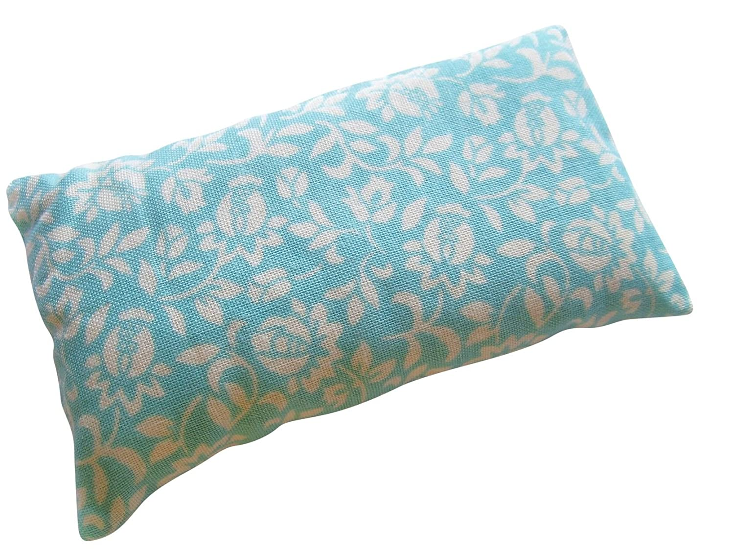 Nakpunar Robin Egg Blue Floral Pincushion Filled with Emery