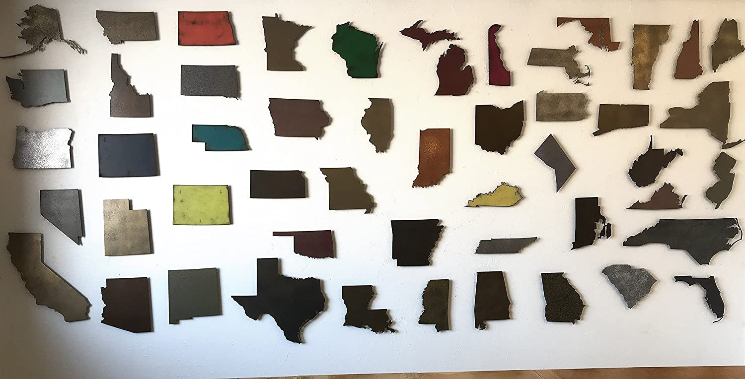 Metal Number 3-8 12 Handmade metal wall art 16 or 22 inch tall Size and Letter or Number Choose your Patina Color