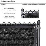 BOUYA Black Privacy Fence Screen 5' x 25' Heavy