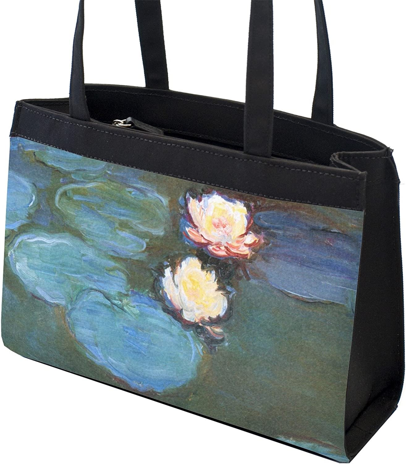 Front Water Lilies #2 Zippered Everyday Tote