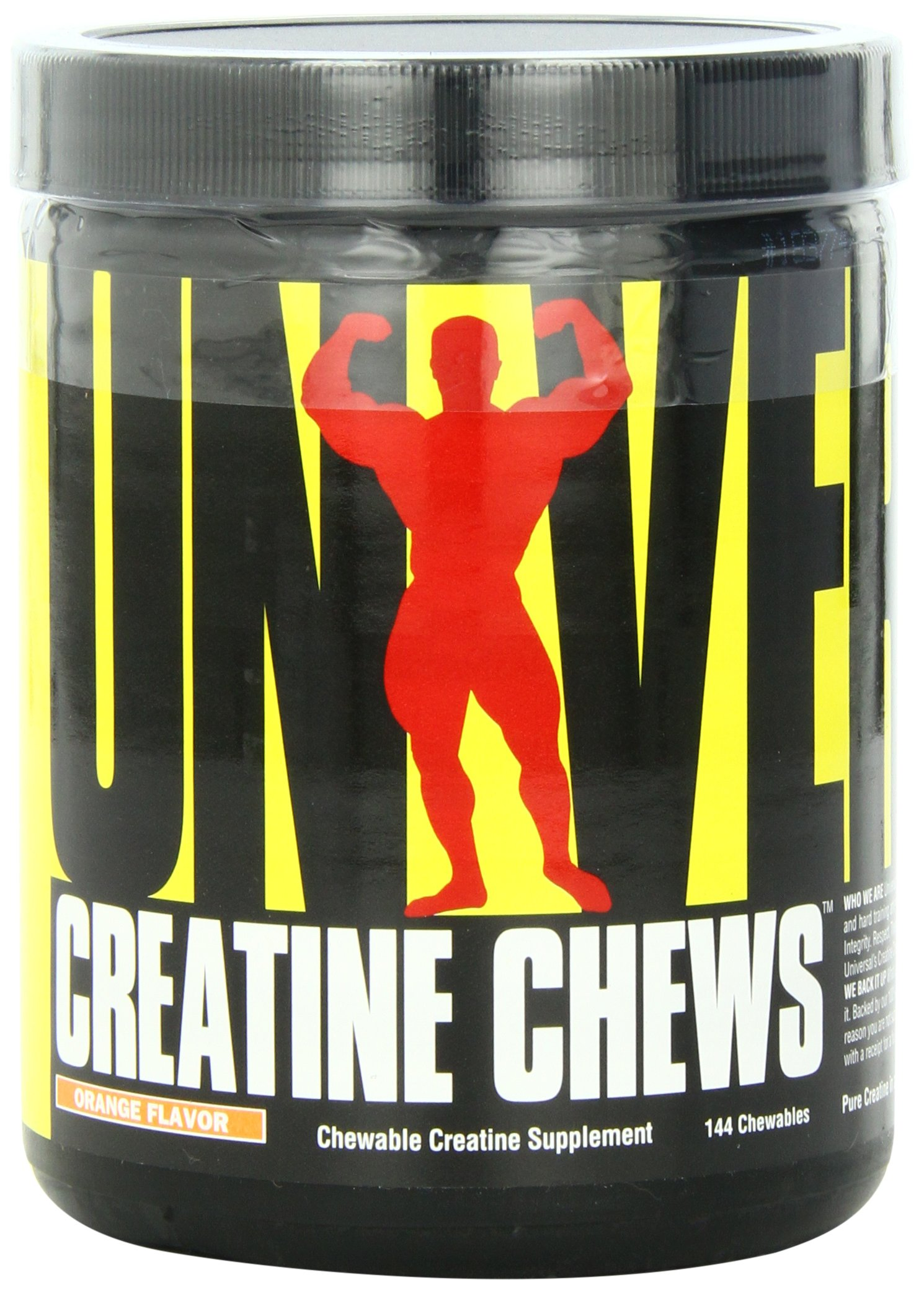 Universal Nutrition 100% Pure Creapure Creatine Monohydrate Chews Orange 144 Count