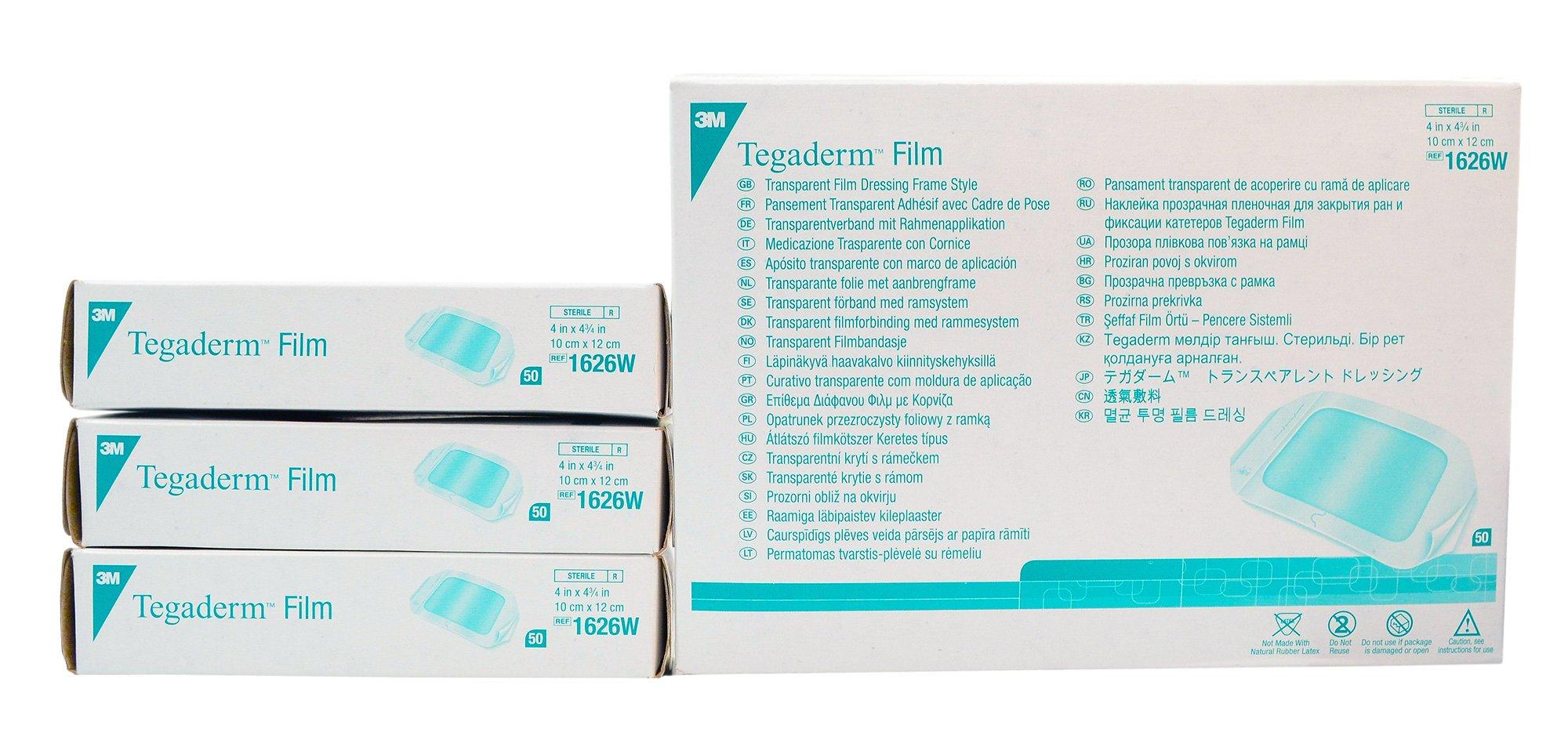 3m Tegaderm Transparent Film Dressing - 4'' x 4-3/4'' - - Case of 200