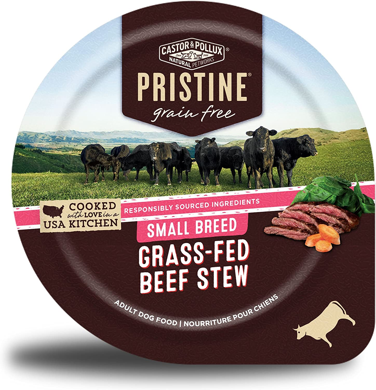 Castor & Pollux Pristine Grain Free Small Breed Free Wet Dog Food (12) 3.5 oz Tubs