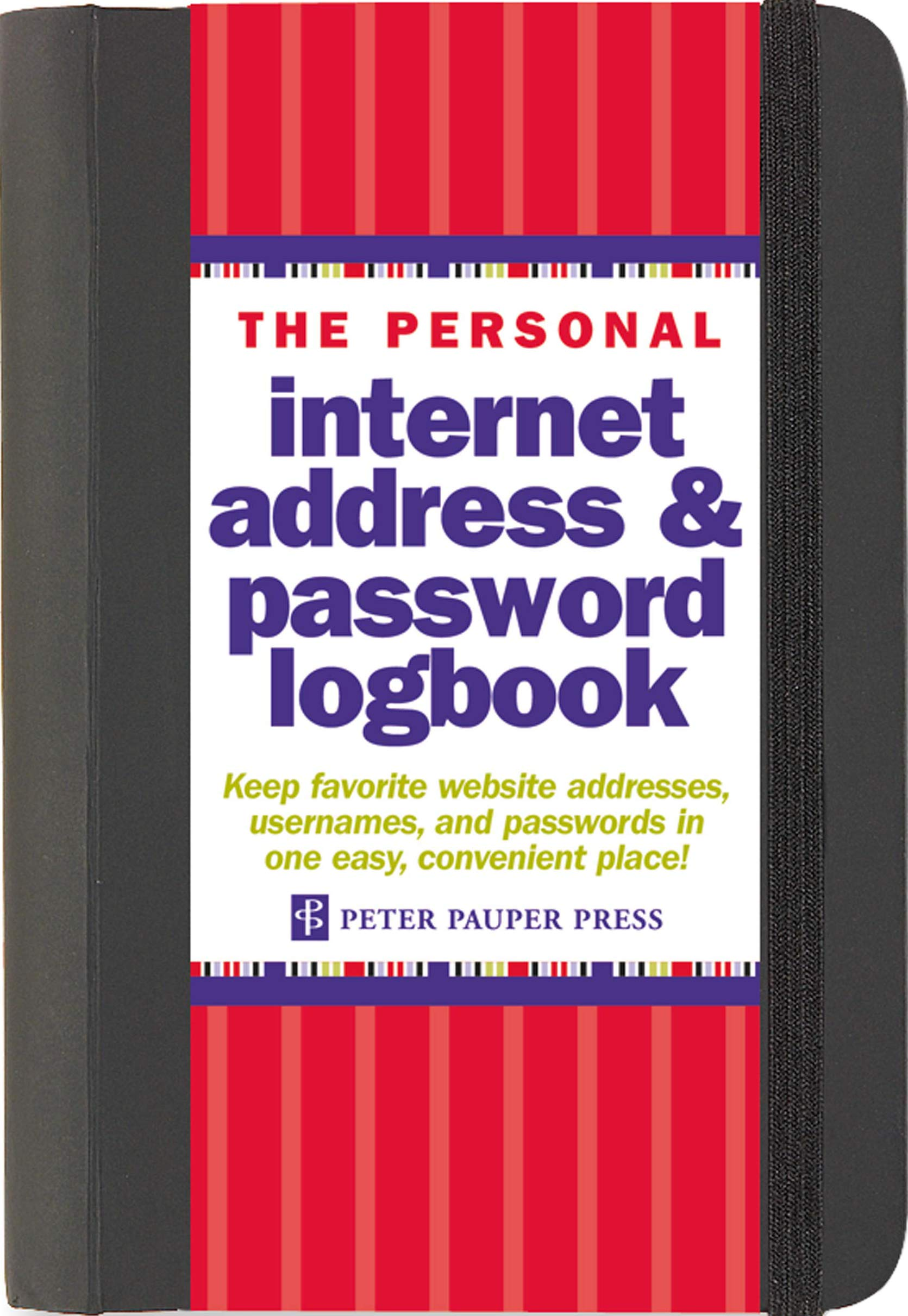 The Personal Internet Address & Password Logbook (detachable duvet band for safety)