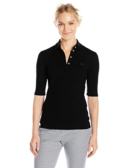f2fc95a7 Lacoste Women's Classic Half Sleeve Slim Fit Stretch Pique Polo, Pf7844