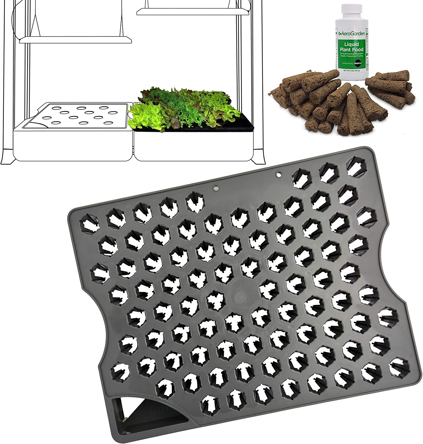 AeroGarden 800296-0100 Seed Starting System for Farm Models, Black