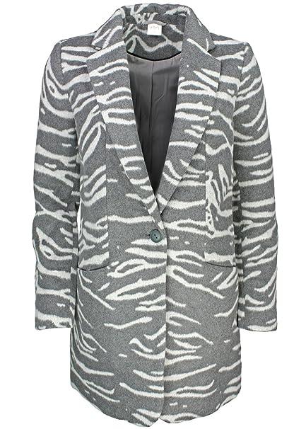 Yaya abrigo de cebra Look Grau Zebra-Look 42: Amazon.es: Ropa y accesorios