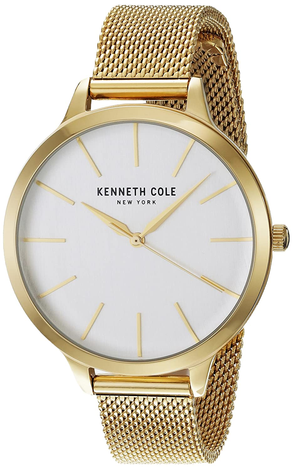 9923dc99da Amazon.com: Kenneth Cole New York Women's 'Classic' Quartz Stainless Steel  Dress Watch, Color:Gold-Toned (Model: KC15056011): Watches