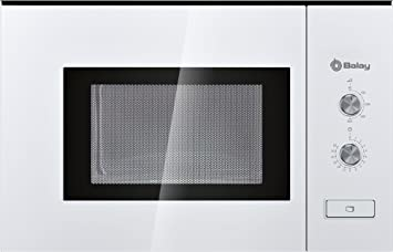 Balay 3WM360BIC Serie Cristal - Microondas integrables con plato giratorio y apertura de puerta con botón