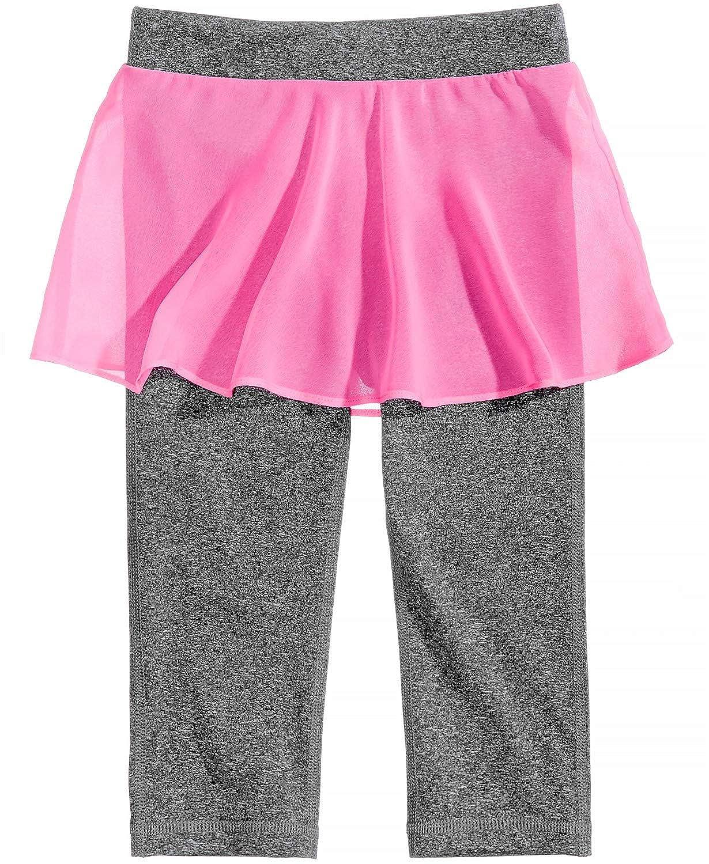 Ideology Skirt Capri Leggings Little Girls Charcoal Melang Size 6