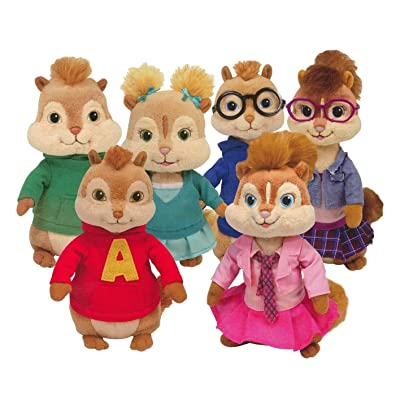 TY Beanie Babies - Alvin & the Chipmunks ( Complete Set of 6 ): Toys & Games