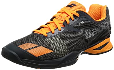 dcba3bd0a79a4 Amazon.com | Babolat Men's Jet All Court Tennis Shoes (Grey/Orange ...