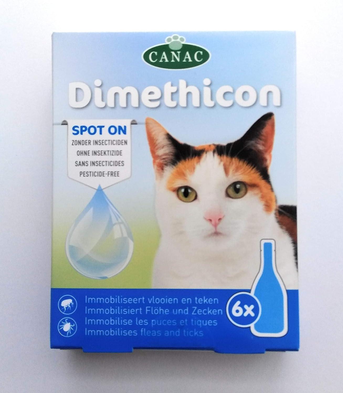 Generique DIMETHICON - Pipetas antipulgas y garrapatas Spot on para gatos, x 6 pipetas