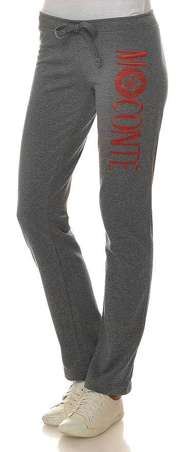 M.Conte Jogginghose Damen Freizeit Sweathose Sweatpants Sporthose ohne  Bündchen, lang Jersey-Hose 0b7467f682