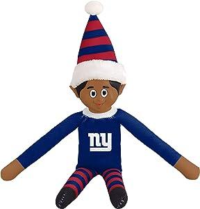 FOCO Ebony NFL Bench Buddy Shelf Elf - Limited Edition NFL Team Christmas Elf - Plush Toy Travel Companion, Home or Tailgate