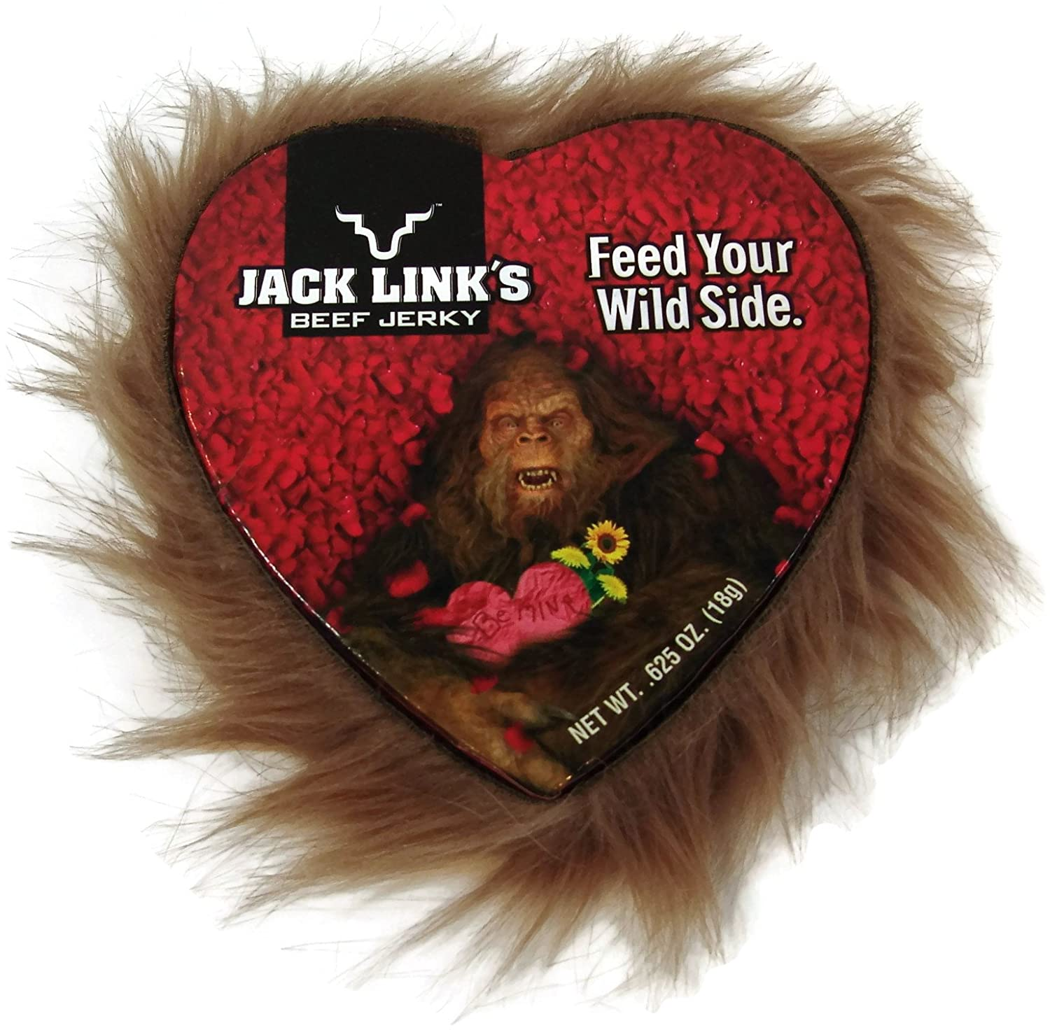 Amazon.com : Jack Links Sasquatch (Big Foot) U0026 Beef Jerky Valentines Day  Gift For Him   Includes 7 Items: Fur Lined Heart Shaped Box, Beef Jerky,  Beef ...