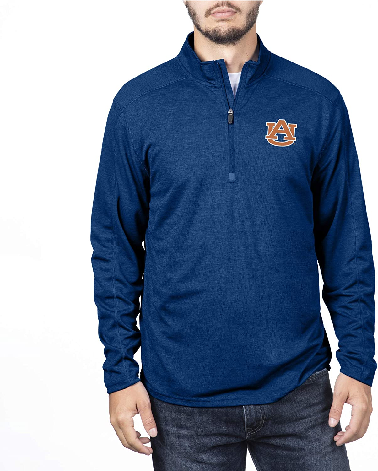 Top of the World Mens Team Color Heathered Poly Half Zip Pullover