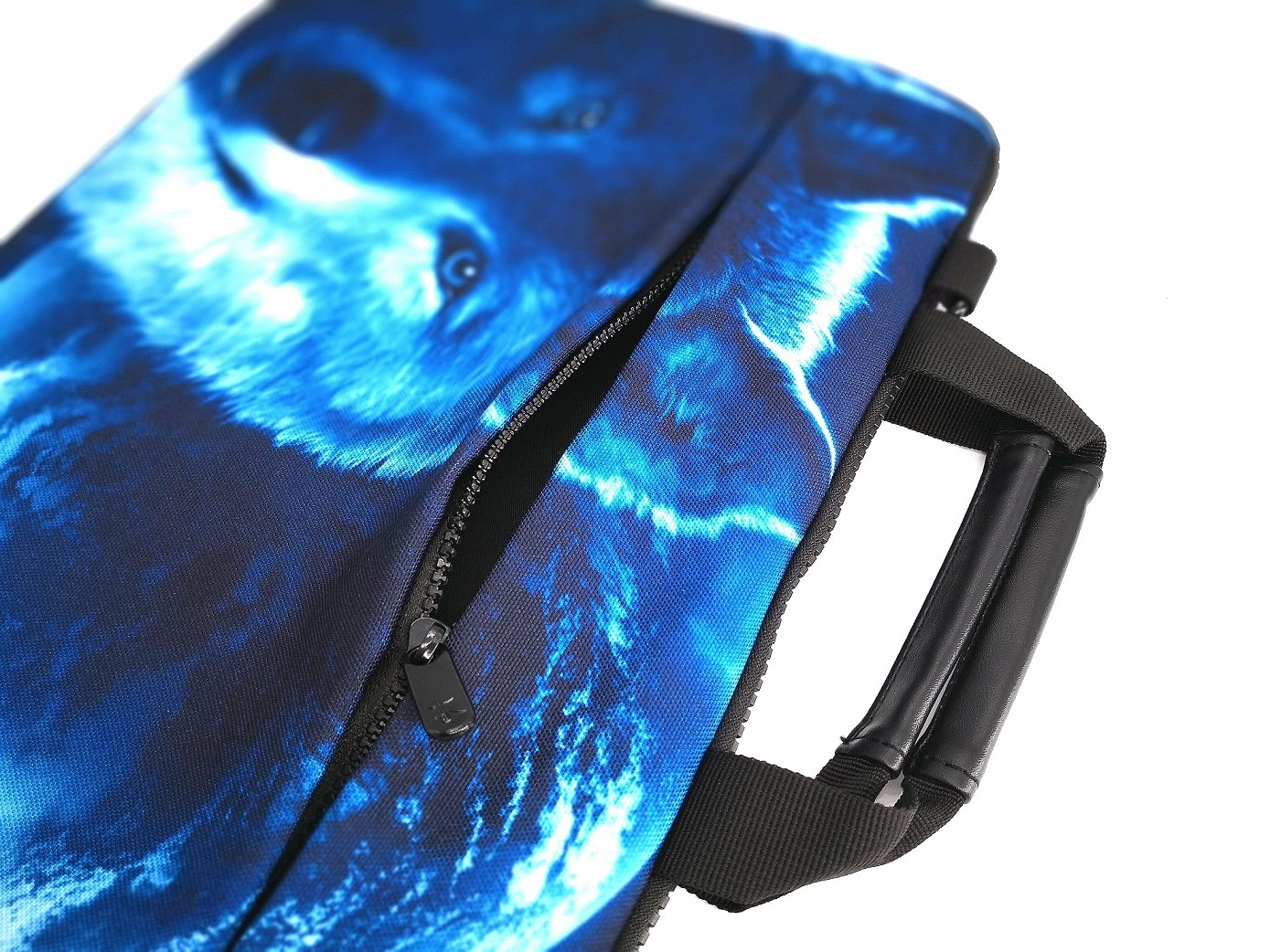 iColor 15'' Canvas Laptop Shoulder Messenger Bags 14'' 15.4 Inch Briefcase 15.6'' Computer PC Notebook Tablet Handle Cases Carrying Sleeve Cover Holder (14''~15.6'', Cool Wolf) by iColor (Image #2)