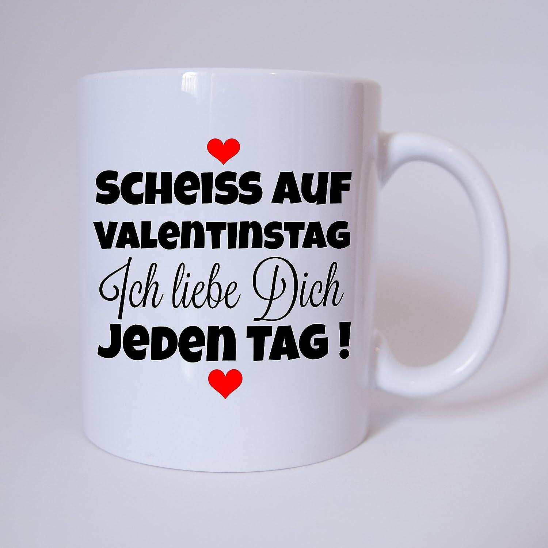 Tasse U0027Scheiss Auf Valentinstag. Ich Liebe Dich Jeden Tagu0027 Kaffeetasse,  Kaffeebecher, Geschenkidee Zum Valentinstag, Valentinstagsgeschenk,  Geschenk Für Sie ...