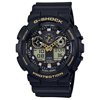 c76633b100fa Image Unavailable. Image not available for. Color  Men s Casio G-Shock  Analog-Digital Black Strap Watch ...