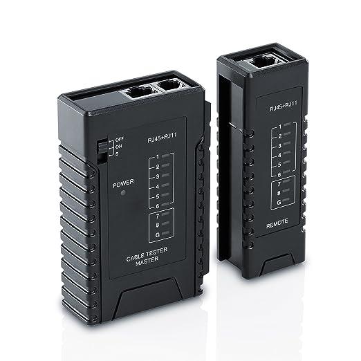 34 opinioni per CSL- Tester per cavo di rete, per cavo RJ45-/RJ11 | Tester del cavo patch /