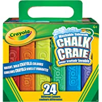Crayola 24-Count Sidewalk Chalk, Outdoor Activities, Washable, Bright, Colourful, Craft Supplies, Gift for Boys and Girls, Kids, Ages 3,4, 5, 6 and Up, Summer Travel, Cottage, Camping, on-the-go,  Arts and Crafts, Back to school, School supplies, Gifting