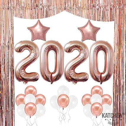 Congratulation Graduation Party Classy White Gold Helium Foil Balloons Bouquet